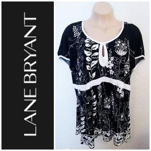 Lane Bryant Tops - Floral Keyhole Top | Lane Bryant | 22/24